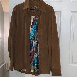 XL Robert Graham leather shirt-jack